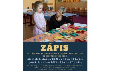 Zápisy do prvních tříd se v Krnově uskuteční na začátku dubna