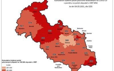 Koronavirus na Bruntálsku: Počet nakažených je 1145, zemřelo už 241 lidí!