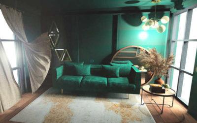 Trendy interiérového designu: Rok 2021 až 2022 patří smaragdové barvě