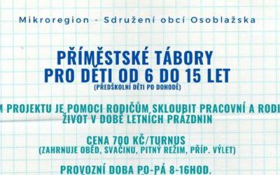 Mikroregion – Sdružení obcí Osoblažska pořádá příměstské tábory