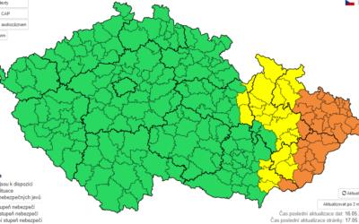 Moravskoslezský kraj opět zasáhnou silné bouřky a přívalové deště