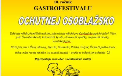 Pořadatelé přijímají přihlášky na 10. ročník gastrofestivalu Ochutnej Osoblažsko