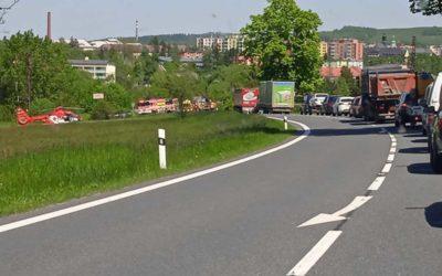 Bruntál: Motorkář se lekl a prudce zabrzdil, způsobil si těžké zranění