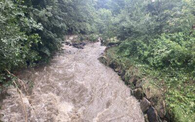 V horní části řeky Bělé v Jeseníkách bylo dosaženo až 100 leté povodně