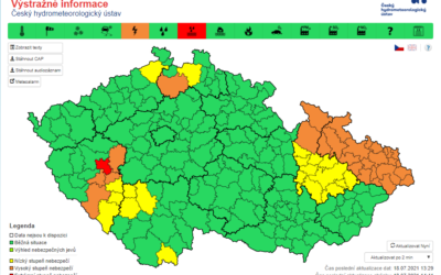 Velmi silné bouřky zasáhnou v neděli především Moravu a Slezsko