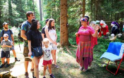 Lesní slavnost Lapků z Drakova přilákala rodiny s dětmi